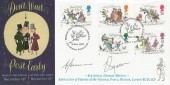 1993 Christmas, Friend of the National Postal Museum Official FDC, Christmas Postcards National Postal Museum London EC H/S, Signed