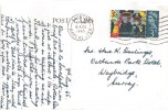 1965 Salvation Army, Postcard of Snowdonia from Harlech FDC, 3d Ordinary stamp only, Swinton Manchester Cancel