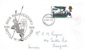 1966 Battle of Hastings, Illustrated FDC, 6d ordinary stamp only, Hastings Sussex FDI