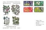 1964 Botanical Congress, Holmes Tolley FDC, Edinburgh FDI