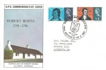 1966 Robert Burns, GPO FDC, That Man to Man the Warld O'er Shall Brothers be for A' That Ayr H/S