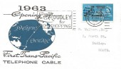 1963 Commonwealth Cable, Illustrated FDC, Dudley for Zoo & Shopping Dudley Worcs. Slogan