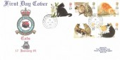 1995 Cats, RAF Bruggen FDC, Field Post Office 986 cds