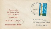 1965 Post Office Tower, Illustrated Display FDC, 3d Ordinary stamp only, Chester FDI