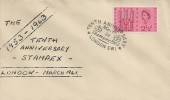 1963 Freedom From Hunger, Printed Display Cover, 2½d stamp only, Tenth Anniversary Stampex London SW1 H/S