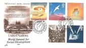 1995 VE Day, Artcraft United Nations World Summit for Social Development FDC, 50th Anniversary Victory in Europe Whitehall SW1 H/S