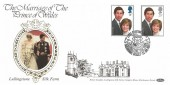 1981 Royal Wedding, Benham L1 Official FDC, Loyal Greetings from Lullingstone Silk Farm Sherborne Dorset H/S