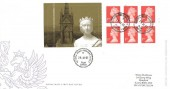 2001 Queen Victoria £1.62 Commemorative Label Booklet, Special Delivery Royal Mail Definitive FDC, Victoria Road Romford Essex cds