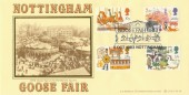 1983 British Fairs Bradbury LFDC 28 Official FDC, Goose Fair 1983 Nottingham H/S