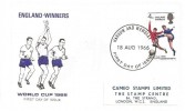 1966 England World Cup Winners, Cameo FDC, Harrow and Wembley FDI