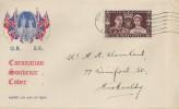 1937 King George VI Coronation, Illustrated FDC, Kirkcaldy Fife Cancel