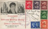 1940 Postage Stamp Centenary, James Chalmers Illustrated FDC, Carnoustie Angus cds