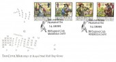 1992 English Civil War, Royal Mail FDC, The Lawn Tennis Museum at the All England Club Wimbledon SW19 H/S