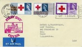 1963 Red Cross Centenary, Illustrated FDC, First Day of Issue Manchester Slogan and Manchester cds