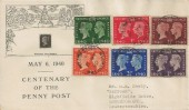1940 Stamp Centenary, Illustrated FDC, Hollow Stone Nottingham cds