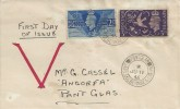 1946 Victory Hand Painted FDC, Pantglas Garn. Dolbenmaen Caern. cds
