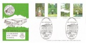 1983 British Gardens, Joyce Grenfell Centre Claremont Fan Court School Arlington Official FDC, 200th Anniversary Capability Brown Claremont Esher Surrey H/S