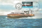 1966 British Technology, J Arthur Dixon Hovercraft SRN 6 Postcard, 1/3d SRN 6 Hovercraft stamp only Lincoln FDI, Double with Elmore Lee on Solent Hants cds