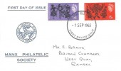 1965 Commonwealth Arts Festival, Manx Philatelic Society FDC, Douglas Isle of Man FDI