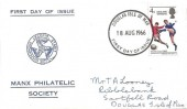 1966 England World Cup Winners, Manx Philatelic Society FDC, Douglas Isle of Man FDI
