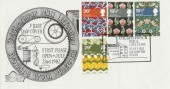 1982 British Textiles Coldharbour Mill Official FDC, Coldharbour Mill Uffculme Cullompton Devon H/S