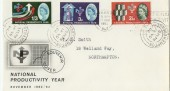 1962 BPA/PTS FDC National Productivity Year,  National Productivity Year Slogan