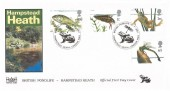 2001 Pond Life, Havering Official FDC, British Pond Life Hampstead Heath London NW3 H/S