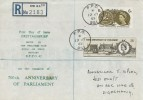 1965 700th Anniversary of Parliament, Registered RAF Bruggen FDC FPO 951 cds