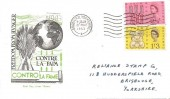 1963 Freedom from Hunger, Roma Italian FDC, Bradford Yorkshire Cancel