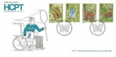 1981 Butterflies, Handicapped Children's Pilgrimage Trust FDC, First Day of Issue London SW H/S