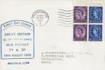 1965 2/- Booklet, 2x3d, 2x1d Se-Tenant Pane Phosphor, J Sanders Display FDC, Southampton T Cancel
