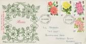 1976 Roses, D P Hathaway FDC, Guildford Surrey FDI