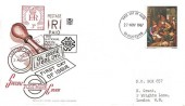 1967 Christmas, Stuart Special Postmark FDC, 3d stamp only, Gloucester FDI