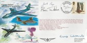 1996 45th Anniversary of Vickers Valiant First Flight cover Signed Brian Trubshaw Concorde Test Pilot CBE, Gabe Robb (Jock) Bryce OBE Chief Test Pilot, & Sir George (Robert) Edwards CBE Chief Designer Vickers Armstrong