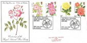 1976 Roses, Save the Children Fund FDC, The Royal National Rose Society St.Albans H/S
