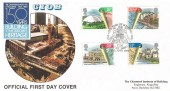 1984 Urban Renewal, Official DGT FDC, The Year of Building CIOB Ascot Berks. H/S
