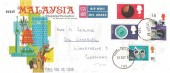 1967 British Discoveries, Visit Malaysia Tropical Paradise FDC, Forces Post Office 131 cds