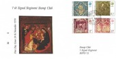 1976 Christmas, 7th Signal Regiment Stamp Club FDC, Field Post Office 445 cds