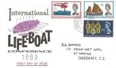 1963 Lifeboat Conference, Illustrated FDC, St. Peter Port Guernsey cds