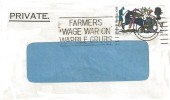 1966 Battle of Hastings, Royal Bank of Scotland Window Envelope FDC, 4d Ordinary stamp only Farmers Wage War on Warble Grubs Pert Slogan