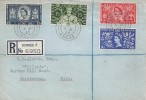 1953 Coronation, Registered CM FDC, Dundee Angus cds