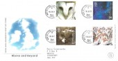2000 Above & Beyond, Special Delivery Royal Mail FDC, New Mills Stockport Cheshire cds