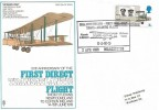 1969 Notable Anniversaries, Trident Vickers Vimy FDC, 5d Alock & Brown stamp only, 50th Anniversary First Non Stop Trans-Atlantic Flight BAMS Manchester H/S