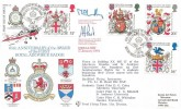 1984 Heraldry, RFDC No.24 Official FDC, 50th Anniversary 1st RAF Badge, British Forces 1826 Postal Service H/S, Signed
