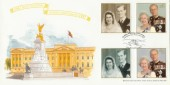 1997 Queen's Golden Wedding, Bletchley Park Official FDC, Golden Wedding Anniversary Buckingham Palace Road London SW1 H/S