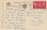 1951 Festival of Britain, Tuck's Post Card of Her Majesty the Queen, who Opened the Festival with King George VI, 2½d stamp only, London Cancel
