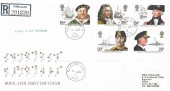 1982 Maritime Heritage, Registered Royal Mail FDC, Falkland Cupar Fife cds