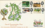 1964 Geographical Congress FDC Ord Set RARE Forest Row Sussex cds