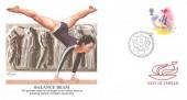 1988 Sport, Fleetwood Balance Beam FDC, 18p Balance Beam stamp only, First Day of Issue Philatelic Bureau Edinburgh H/S