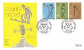 1973 County Cricket Centenary, Thames FDC, Headquarters Sussex County Cricket Club Hove Sussex H/S